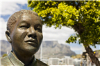 Close-up of the statue of Nelson Mandela in the V...