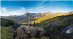 People enjoying the view from the Drakensberg sun...