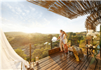Couple holding each other on a deck in Limpopo at...
