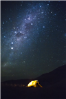 Camping under the picturesque night stars in the ...