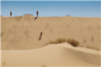 People at the sand dunes in Atlantis north west o...