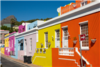 Street view of the colourful Bo-Kaap houses in th...