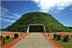 The exterior façade view of the Maropeng Tumulus ...
