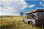 Tourists on a game drive through the Cradle of Hu...