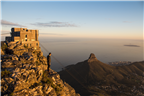 Man looking out over Cape Town and Lion's Head fr...