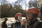 Active Adventure - People excited for river rafti...