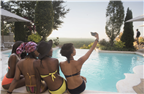 City Lifestyle - Selfie time at the pool side