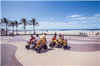 People riding go karts along Durban Beachfront