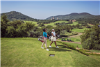 Two women playing golf in Sun City