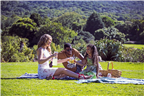 A family having a picnic in Kirstenbosch
