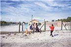 People taking a photo on Robben Island
